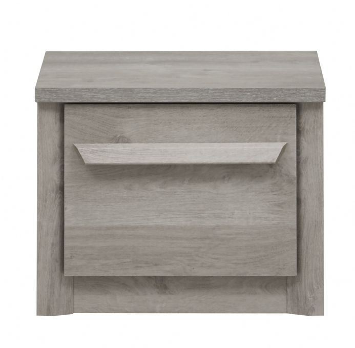 Eden Bedside Cabinet Light Grey Oak